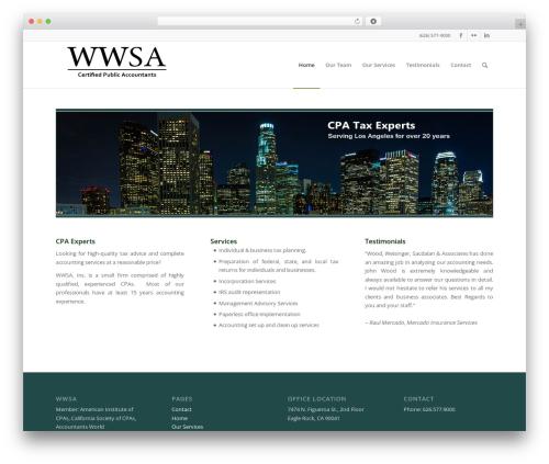 Enfold WordPress template - wwsacpas.com