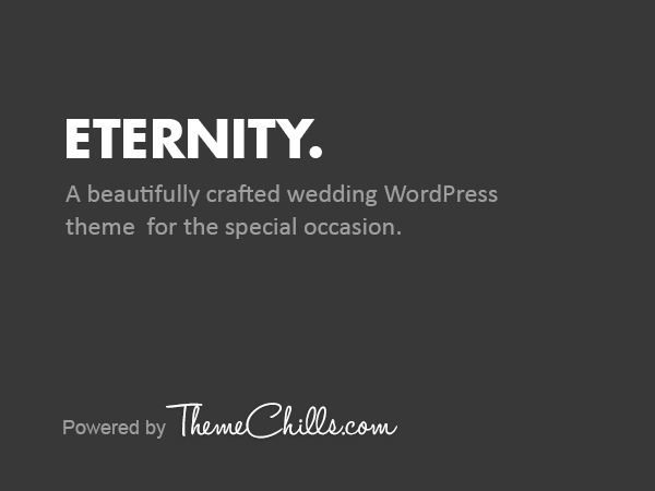 Eternity best wedding WordPress theme