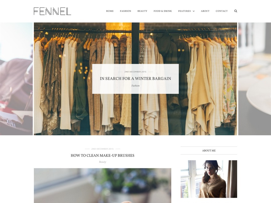 Fennel best WordPress template