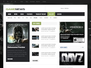 GameNews WordPress magazine theme