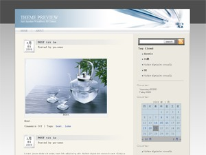 Glass theme WordPress