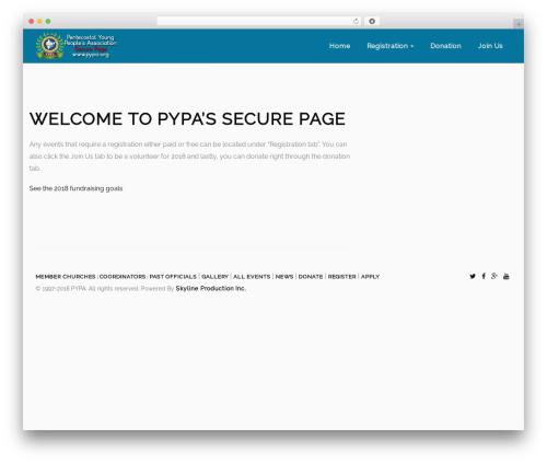 Heal best WordPress theme - wp.pypa.org