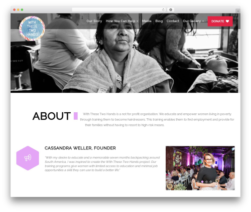 Heal template WordPress - withthesetwohands.com.au