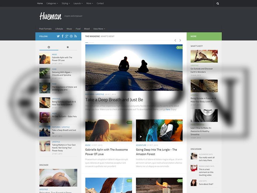 Hueman Child Theme WordPress theme design