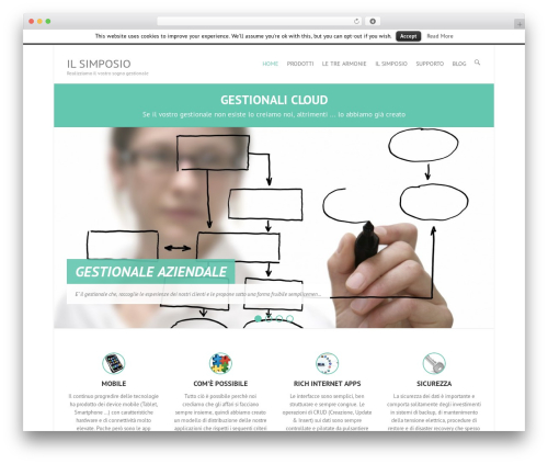 Interface free website theme - website.ilsimposio.it