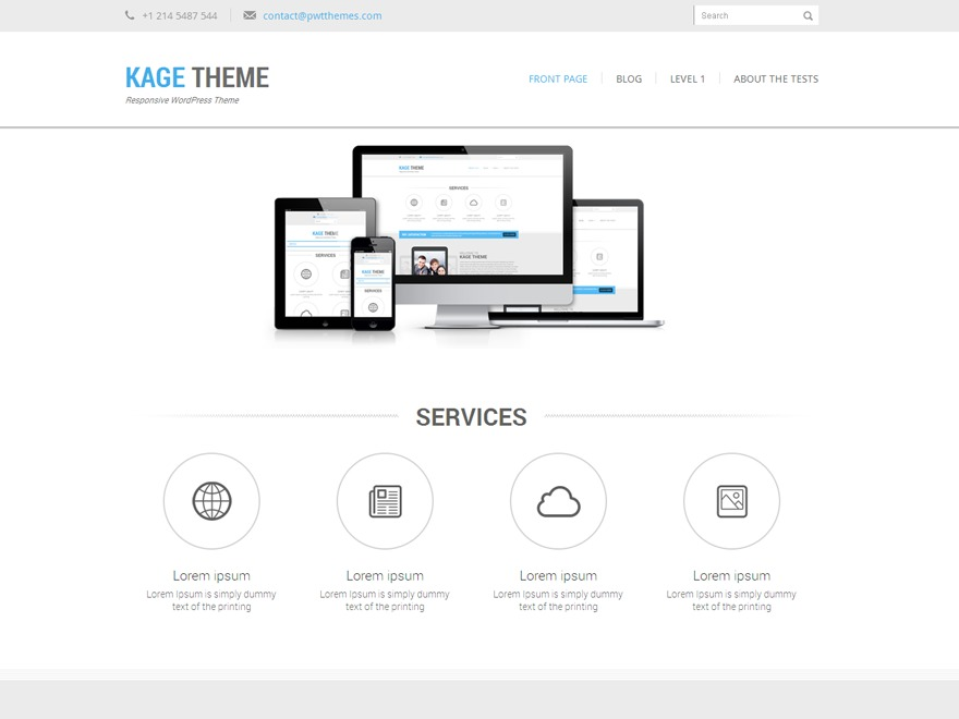 Kage WordPress template for business