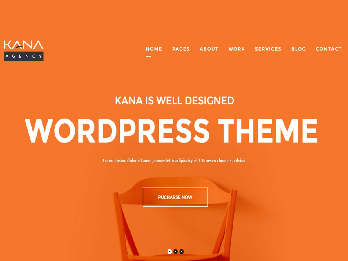 Kana WP company WordPress theme