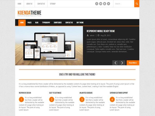 Koenda PRO business WordPress theme