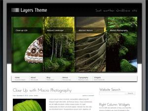 Layers Theme WordPress website template