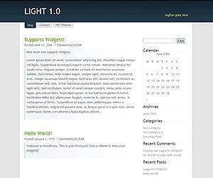 Light WordPress theme