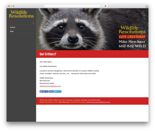 LiveRide Premium WP theme - wildliferesolutions.net