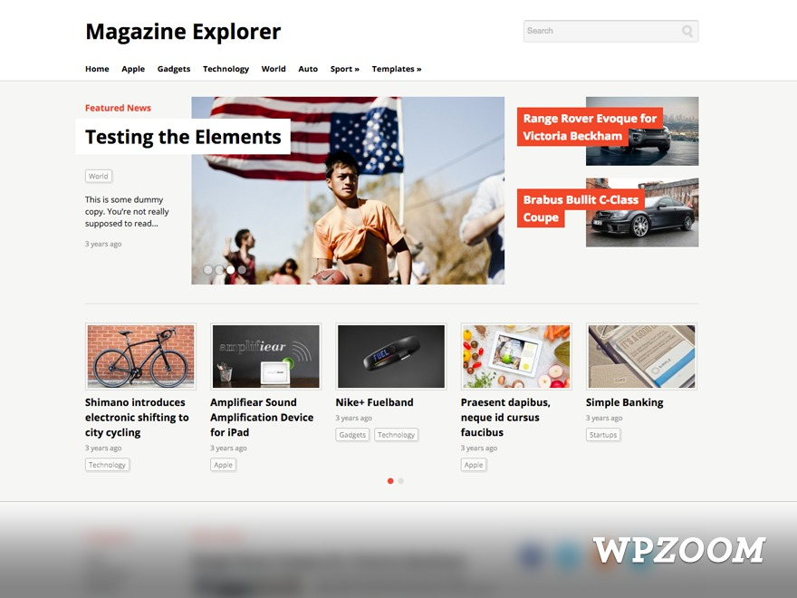 Magazine Explorer WordPress news theme