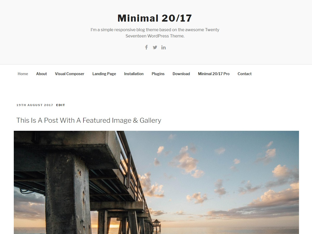 Minimal 20/17 free WordPress theme