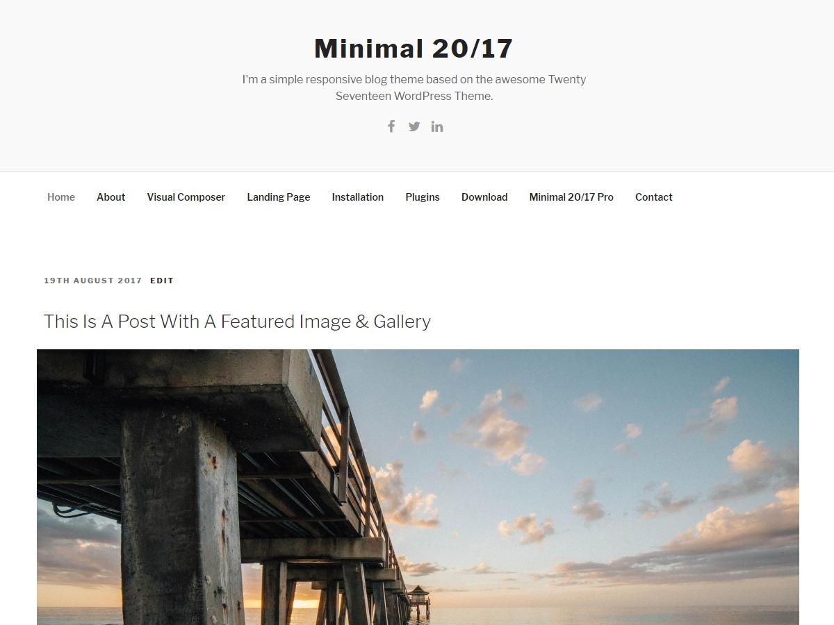 Minimal 20/17 free WordPress theme
