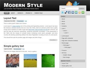 Modern Style WP theme