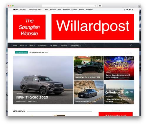Newspaper WordPress theme design - willardpost.com