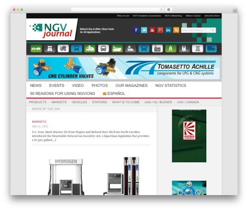 Newsroom newspaper WordPress theme - wp.ngvjournal.com