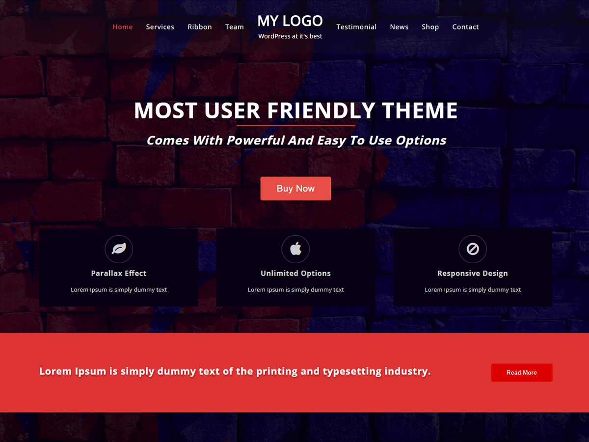 One Page Power WordPress theme free download