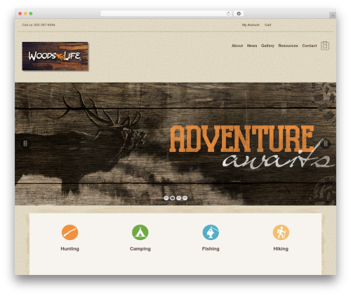 Organic Web Shop WordPress theme - woodslife.net