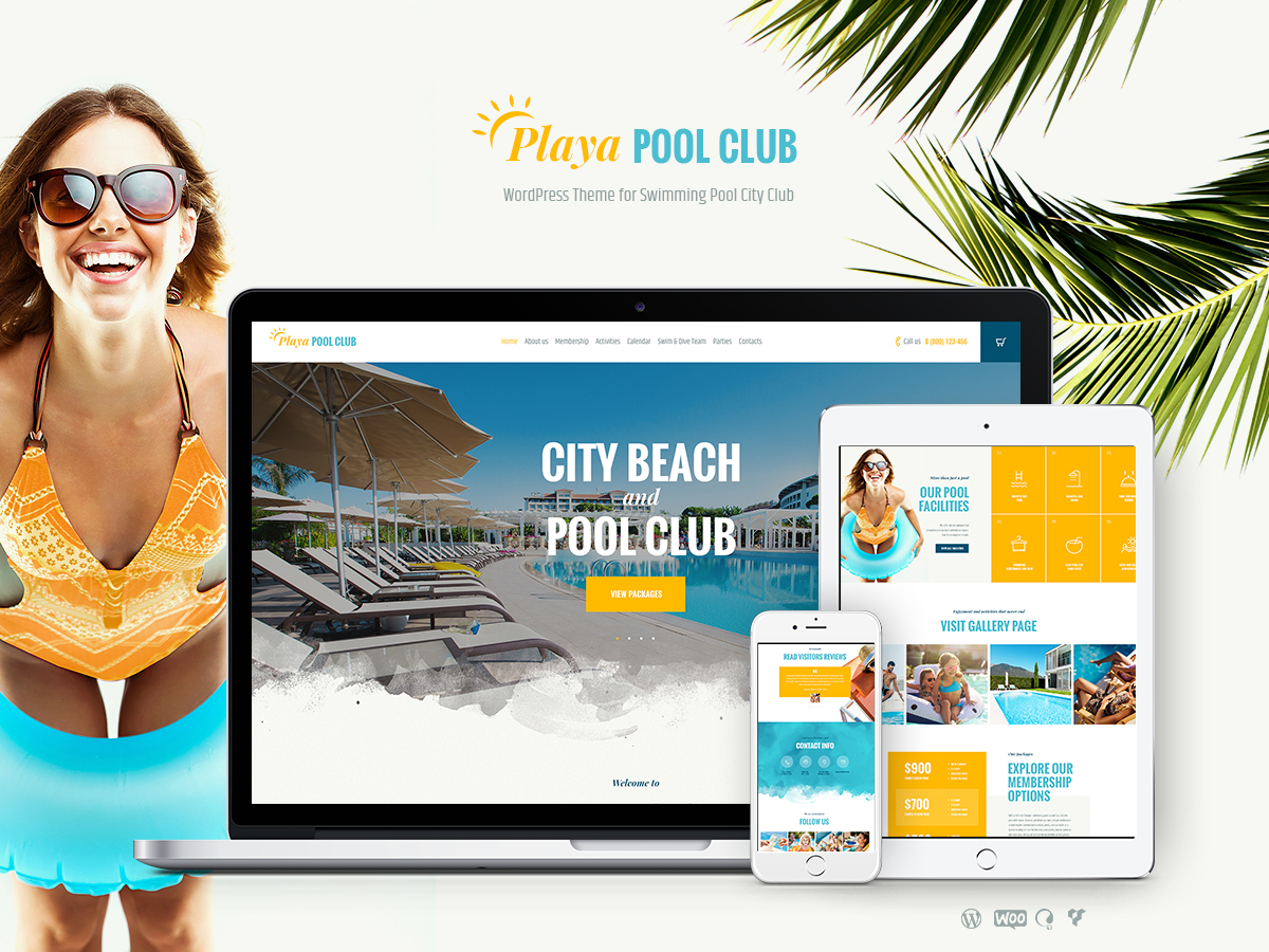 Playa WordPress blog template