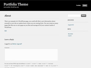 Portfolio Press Child personal blog WordPress theme