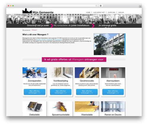Real Property theme WordPress - waregem.mijn-gemeente.be