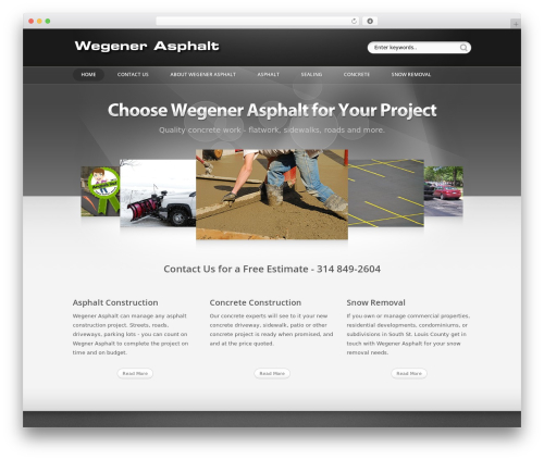 Showtime v3.3 template WordPress - wegenerasphalt.com