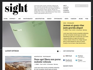 Sight WordPress blog template