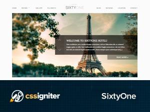 Sixty One WordPress hotel theme