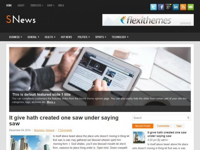 Snews newspaper WordPress theme