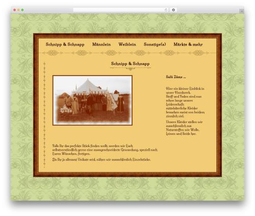 The Vintage WordPress website template - wp.schneiderin.ch