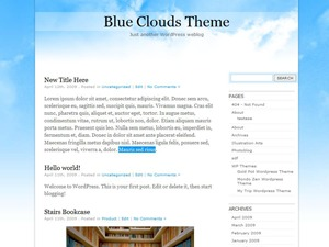Theme WordPress BlueClouds
