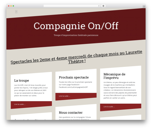 Theme WordPress Oblique - wp.impro-onoff.fr