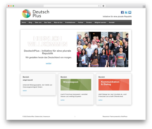 Theme WordPress Responsive - wordpress.deutsch-plus.de