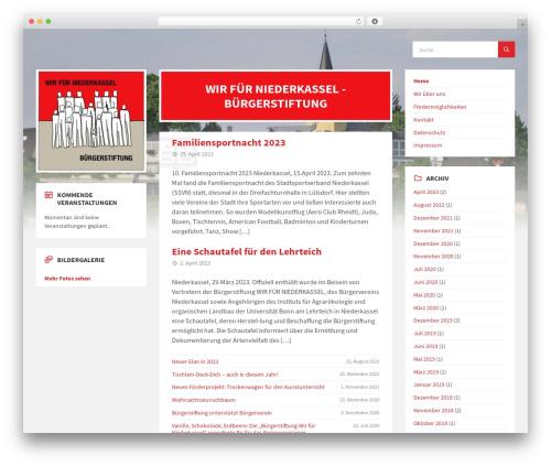 TownPress WordPress theme - wir-fuer-niederkassel.de