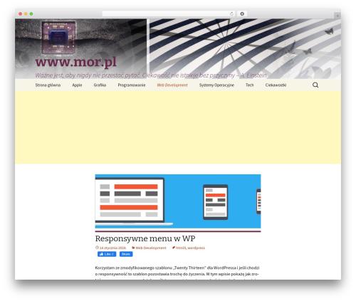 Twenty Thirteen best free WordPress theme - webmaster.mor.pl