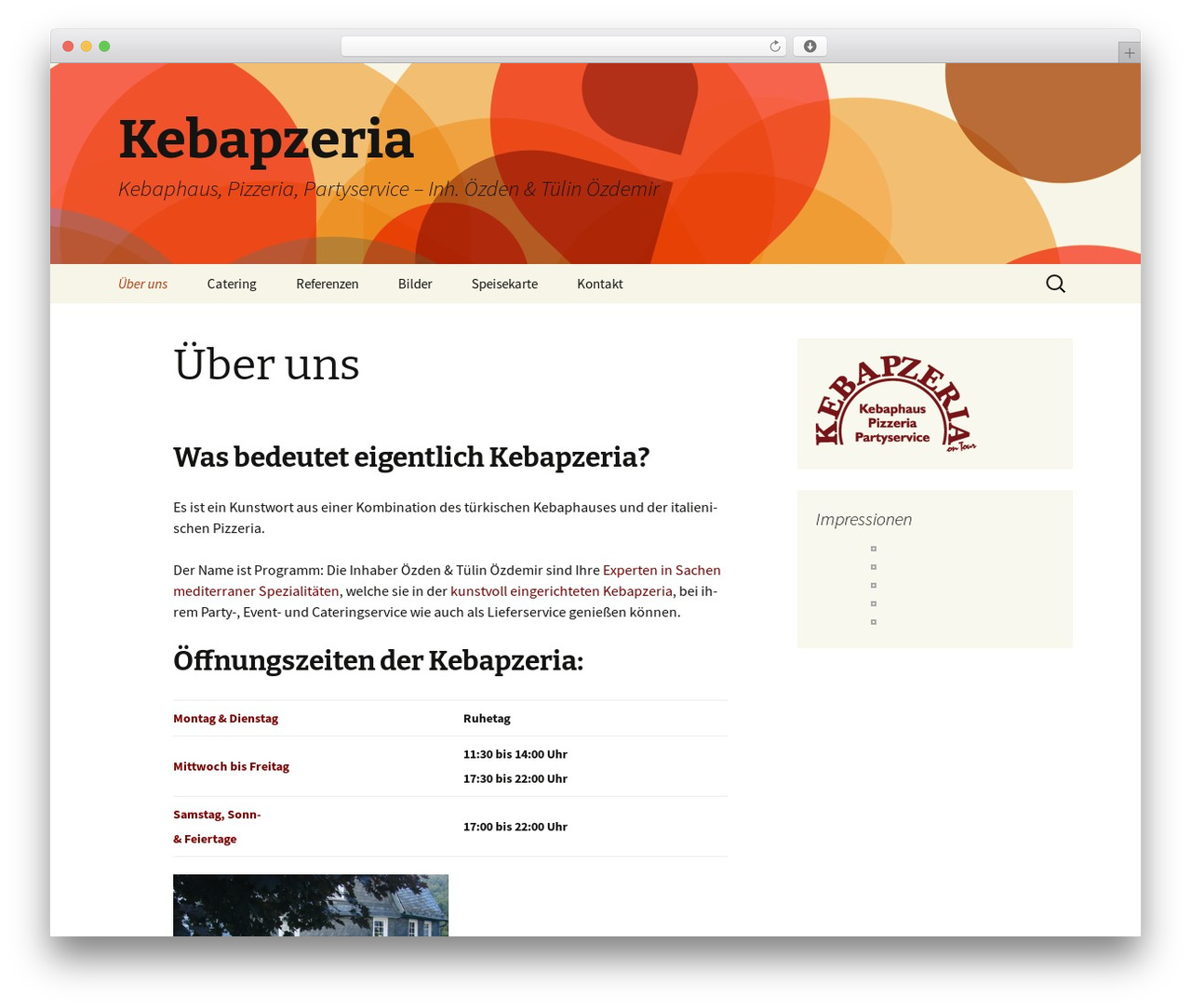 Twenty Thirteen free WordPress theme - wp.kebapzeria.de