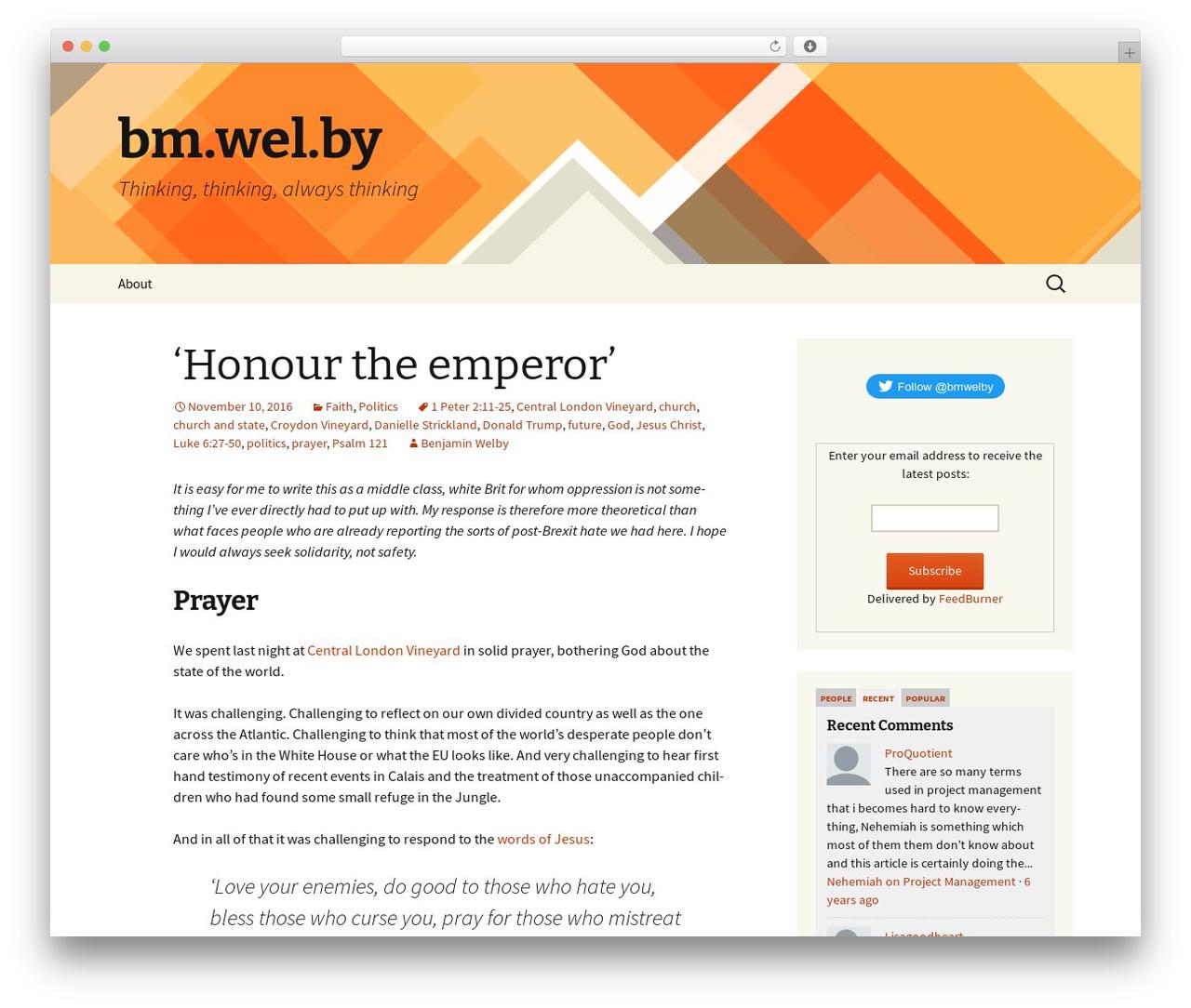 Twenty Thirteen template WordPress free - wel.by