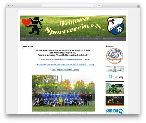 twentyten-child premium WordPress theme - weimarersv-fussball.de