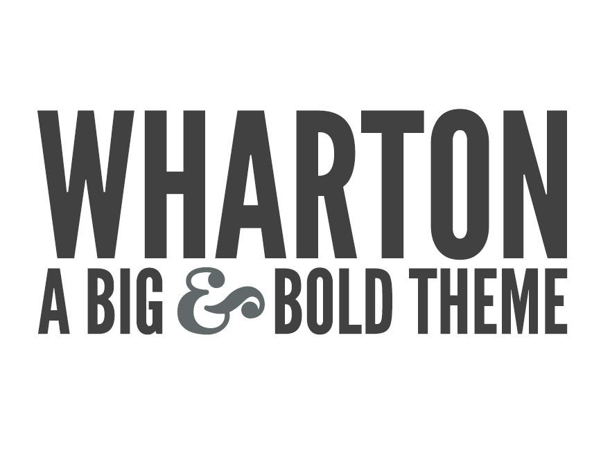 Wharton WordPress blog template