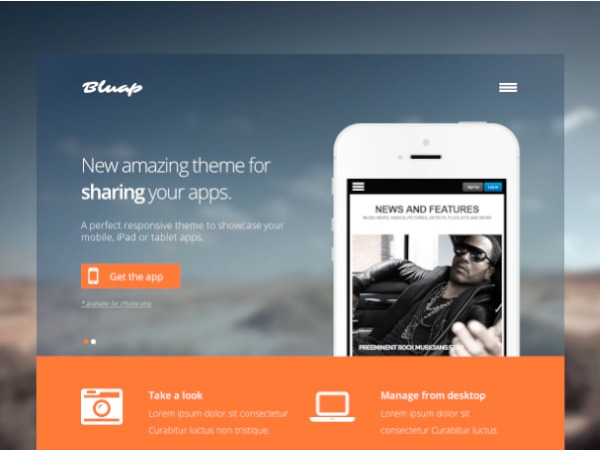 WordPress template Bluap