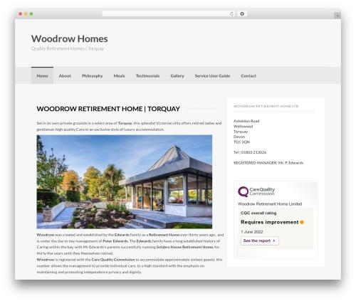 WordPress template Coller - woodrow-homes.co.uk