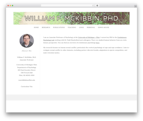 WordPress template Frank - william-mckibbin.com