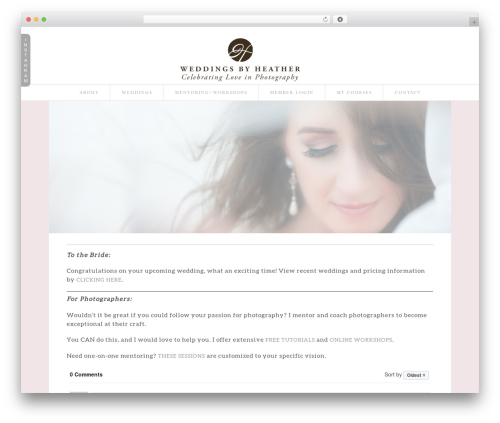 WordPress template ProPhoto - weddingsbyheather.com