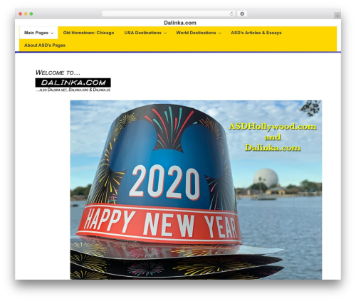 WordPress template Responsive - wp.dalinka.com