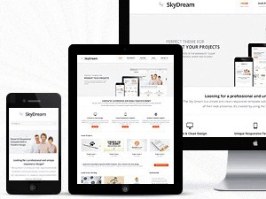 WordPress template SkyDream