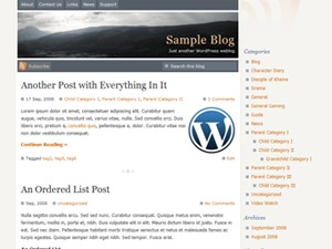 WordPress theme Serenity