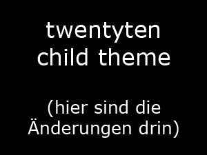 WordPress theme twentytenchild