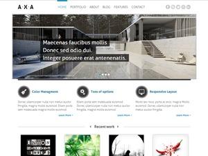 WordPress website template AXA Theme for WordPress