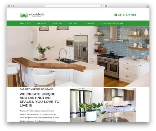 WordPress website template Genesis Sandbox - woodstockcabinetmakers.com.au